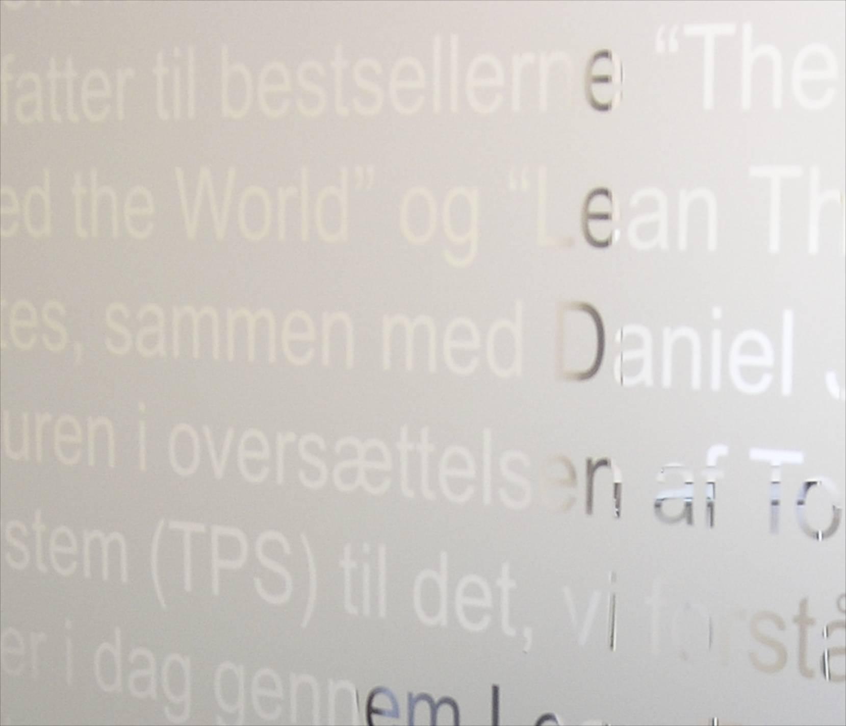 Implement Consulting Group, Slotsmarken, Hørsholm (glasplade)