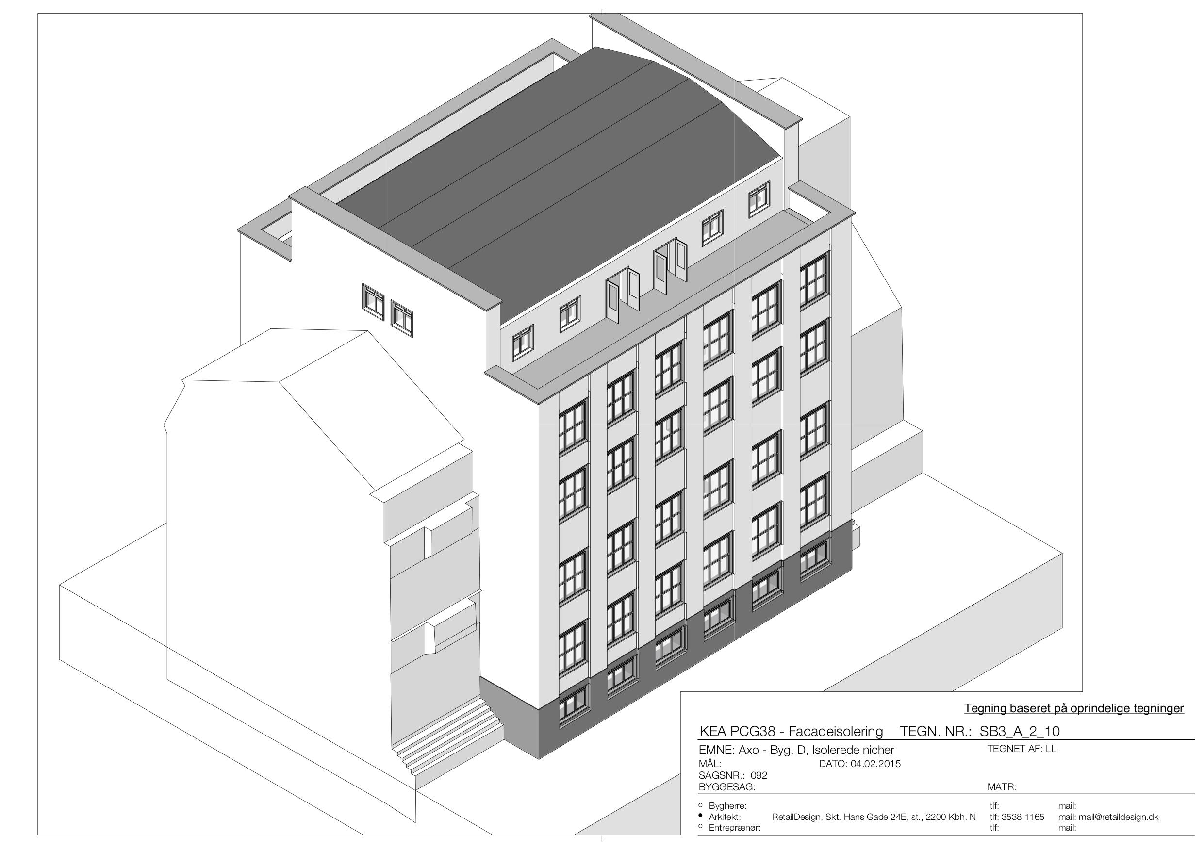 KEA – Københavns Erhvervsakademi (tegning: facadeisolering)
