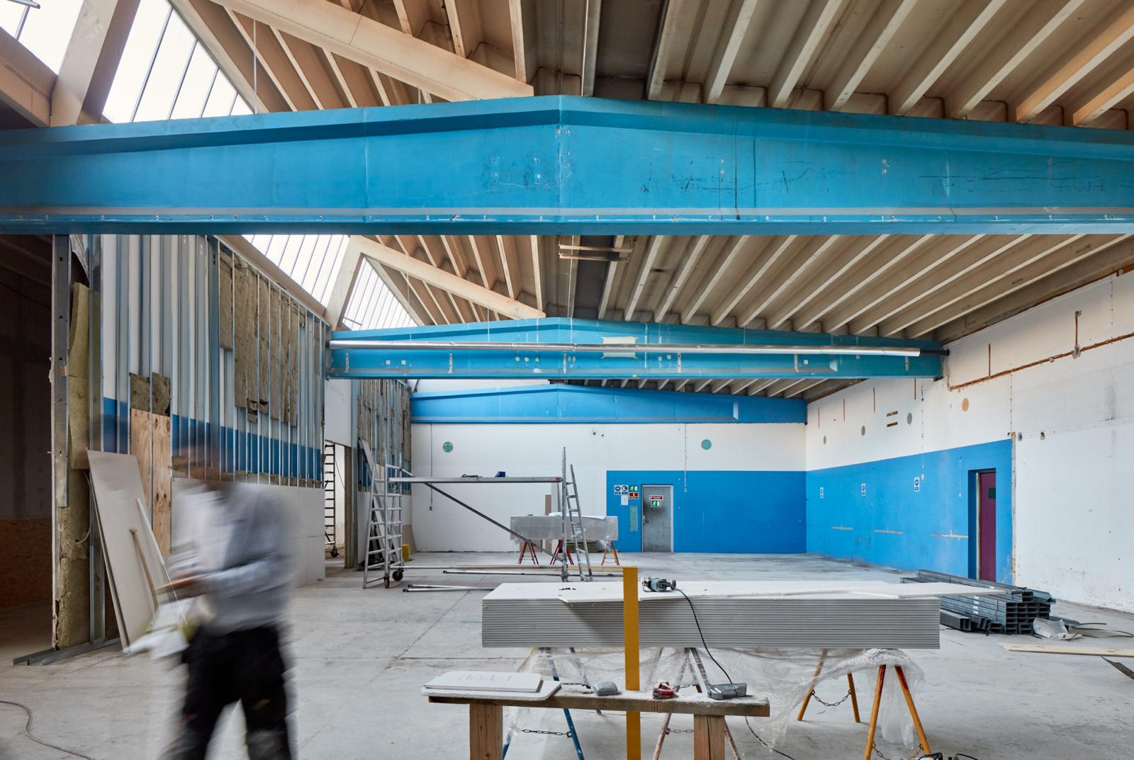 Hal C – Next Uddannelse København (byggeproces, staalkonstruktioner)