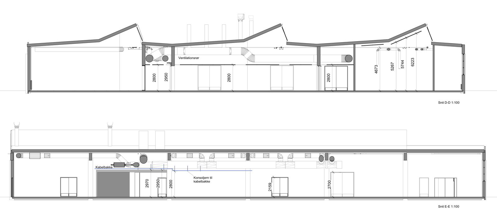 Hal C – Next København (bygningssnit)