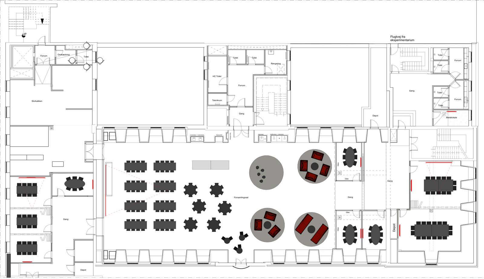 Strandvejen 56, genopbygning efter brand (plantegning 2. sal)
