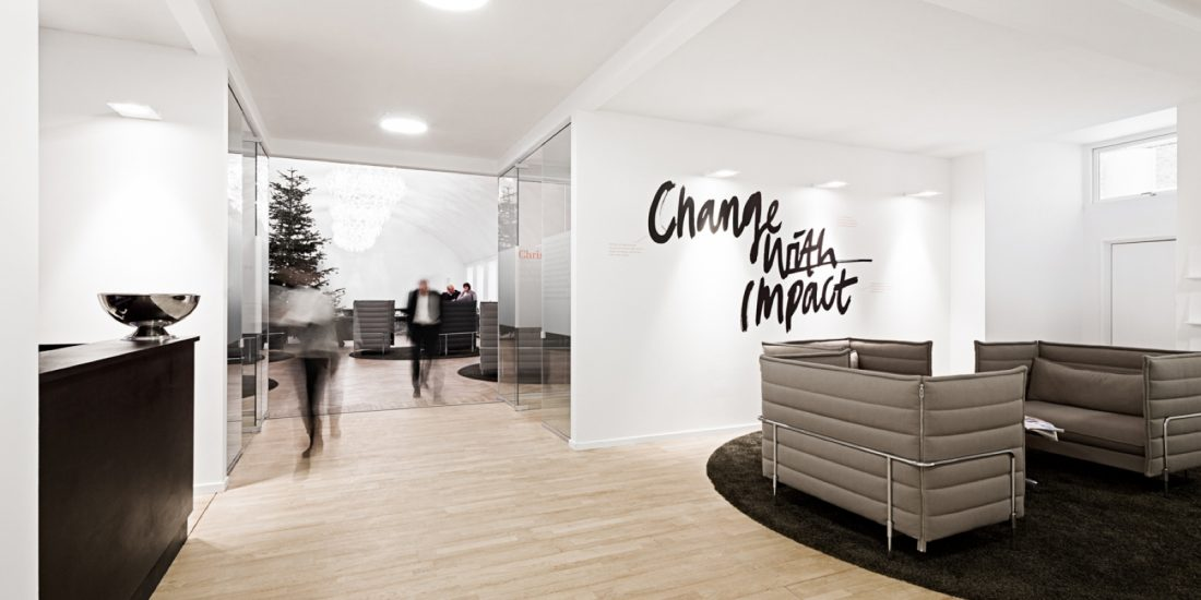 Ombygning til hovedkvarter – Implement Consulting Group: Renovering/Indretning, receptionen