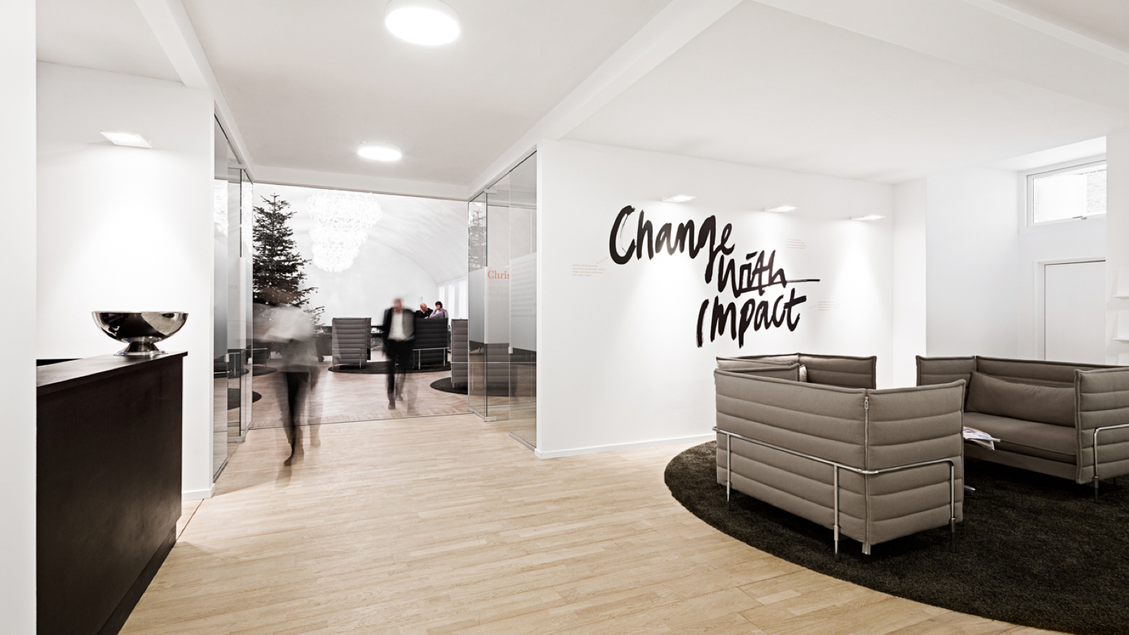 Ombygning til hovedkvarter – Implement Consulting Group: Renovering/Indretning, receptionen