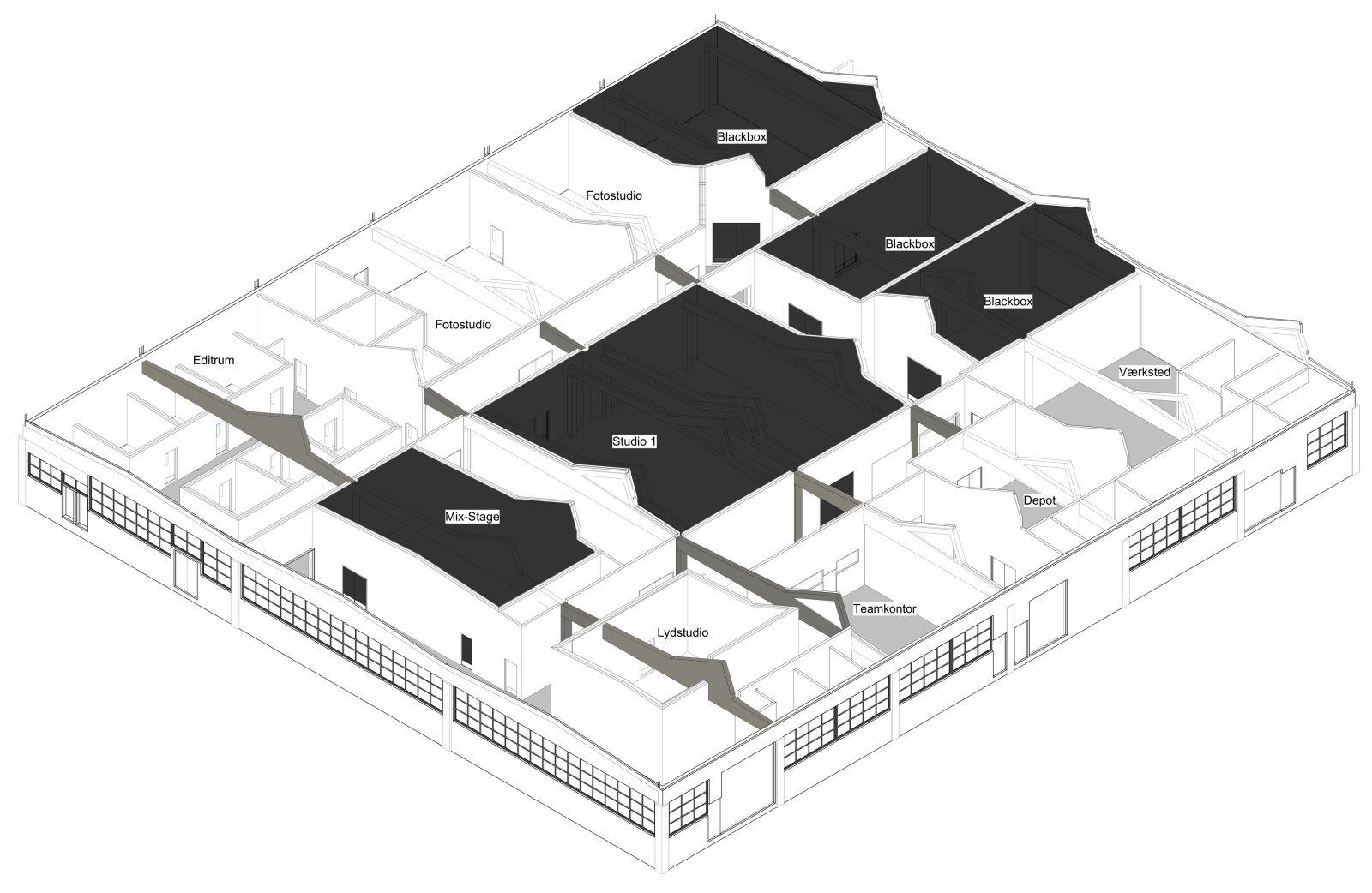 NEXT Uddannelse København: Illustration af Hal C – Medier og IT