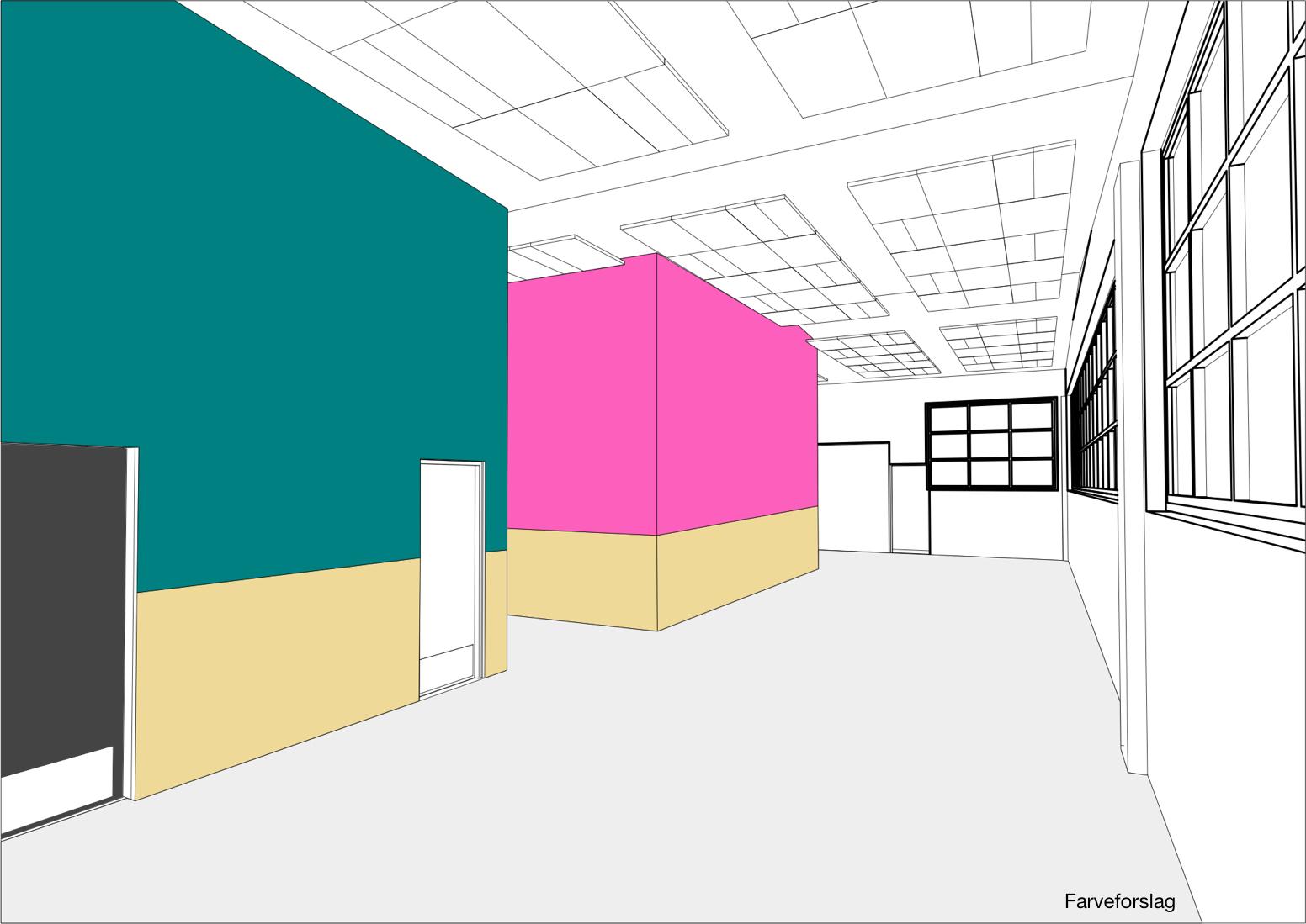 Hal C – Next Uddannelse København (tegning, farveforslag)