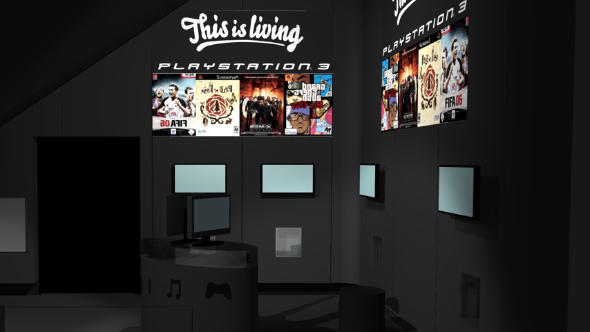 PlayStation 3 Danmark (3D-illustration), Fona, Strøget